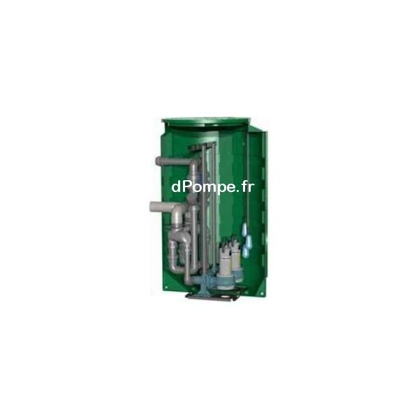 Poste de relevage calpeda 1340 litres calidouble2000 2gqrm 10 32 18 pa sb de 3 30 m3 h entre for Poste de relevage