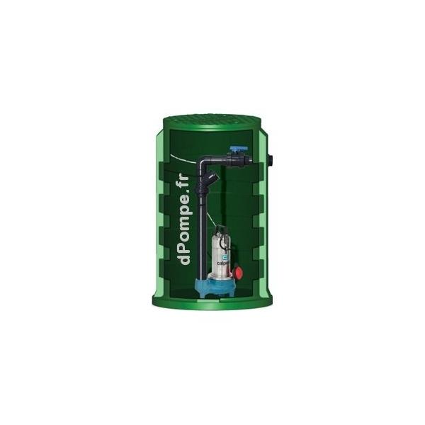 Poste de relevage calidom 1600 8 calpeda avec gqsm 50 8 eau charg e 3 24 m3 h entre 7 4 et 1 8 for Poste de relevage