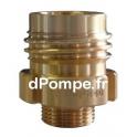 """Raccord à Gros Filet Rond Haute Pression PN 40 Bronze Mâle DN 20 x 3/4"""" (20 x 27) Mâle - dPompe.fr"""