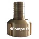 Raccord à Gros Filet Rond Haute Pression PN 40 Laiton Femelle DN 20 x Cannelé Ø 25 mm - dPompe.fr