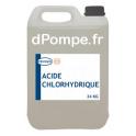 Bidon 25 kg ACIDE CHLORHYDRIQUE Combiné avec le Chlorite de Sodium pour le Traitement au Dioxyde de Chlore - dPompe.fr