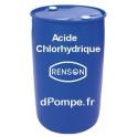 Fût 200 kg ACIDE CHLORHYDRIQUE Combiné avec le Chlorite de Sodium pour le Traitement au Dioxyde de Chlore - dPompe.fr