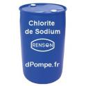 Fût 200 kg CHLORITE DE SODIUM Combiné avec le Chlorite de Sodium pour le Traitement au Dioxyde de Chlore - dPompe.fr