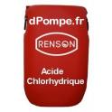 Fût 60 kg ACIDE CHLORHYDRIQUE Combiné avec le Chlorite de Sodium pour le Traitement au Dioxyde de Chlore - dPompe.fr