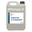 Bidon 24 kg PEROXYDE D'HYDROGÈNE Traitement des Bactéries, Maitrise du Biofilm et Eaux Ferrugineuses - dPompe.fr
