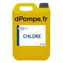 Bidon 25 kg CHLORE Traitement des Bactéries et Maitrise du Biofilm Oxydation du Fer PH Acide - dPompe.fr