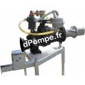 Pompe Dilaceratrice sur Prise de Force DNR 100 de 10 à 150 m3/h entre 70 et 55 m HMT Amorçage Manuel - dPompe.fr