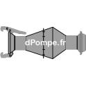 Clapet de Pied Mâle pour Tuyau d'Aspiration à Raccord Sphérique DN 150 - dPompe.fr