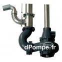 Pompe Verticale Dilacératrice 2,5 m de 10 à 145 m3/h entre 14,5 et 7 m HMT 7,5 kW 1450 tr/min pour Fosse de 2,5 à 3 m avec Vanne