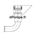 Vanne Mécanique de Flushing Coudé à 90° en Acier Inox pour Tuyau Ø 300 mm - dPompe.fr