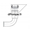 Vanne Mécanique de Flushing Coudé à 90° en Acier Galvanisé pour Tuyau Ø 300 mm - dPompe.fr
