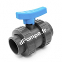 Vanne PVC Pression à Boisseau COMER à Coller Ø 25 PN16 - dPompe.fr