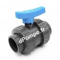 Vanne PVC Pression à Boisseau COMER à Coller Ø 40 PN16 - dPompe.fr