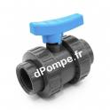 """Vanne PVC Pression à Boisseau COMER à Visser Ø 3/8"""" (12 x 17) PN16 - dPompe.fr"""