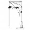 Potence de Levage TSP150-AZ Acier Galvanisé - dPompe.fr