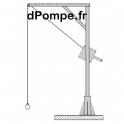 Potence de Levage TSP300-AZ Acier Galvanisé - dPompe.fr