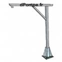 Potence de Levage en Acier Galvanisé PTG 360 (CMU 360kg pour une portée de 1m, 300kg pour 1,3m) - dPompe.fr