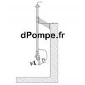 """Système pour Installation Pendulaire SSM050-AZP06 incluant barre 2"""" longueur 2m en Acier Galvanisé - dPompe.fr"""