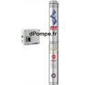 """Pompe Immergée 3"""" Pedrollo 3SRm 2/15 de 0,6 à 2,7 m3/h entre 42 et 10 m HMT Mono 220 230 V 0,37 kW avec Coffret"""