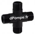 """Croix Polypropylène PN 16 Mâle à Visser Ø 2""""1/2 (66 x 76) - dPompe.fr"""