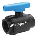 """Vanne Polypropylène Compacte PN 10 à Boisseau ABS Femelle à Visser Ø 1""""1/4 (33 x 42) - dPompe.fr"""