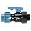 """Vanne à Compression Polypropylène PN 16 Mâle à Visser Ø 40 x 1""""1/4 (33 x 42) - dPompe.fr"""