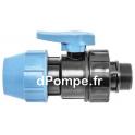 """Vanne à Compression Polypropylène PN 16 Mâle à Visser Ø 50 x 1""""1/2 (40 x 49) - dPompe.fr"""