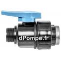 """Vanne Polypropylène Simple Union PN 16 Mâle Femelle à Visser Ø 1""""1/2 (40 x 49) - dPompe.fr"""