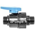 """Vanne Polypropylène Simple Union PN 16 Mâle à Visser Ø 1/2"""" (15 x 21) - dPompe.fr"""