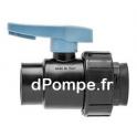 """Vanne Polypropylène Simple Union PN 16 Femelle à Visser Ø 3/4"""" (20 x 27) - dPompe.fr"""