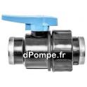 """Vanne Polypropylène Simple Union PN 16 Femelle à Visser Ø 1""""1/2 (40 x 49) - dPompe.fr"""