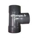 Té PVC Évacuation à 87° Femelle Ø 40 - dPompe.fr