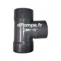 Té PVC Évacuation à 87° Femelle Ø 140 - dPompe.fr