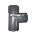 Té PVC Évacuation à 87° Mâle Femelle Ø 90 - dPompe.fr