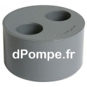 Tampon Réduit Double PVC Évacuation Mâle Femelle Femelle 100 x 40 x 40 - dPompe.fr