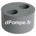 Tampon Réduit Double PVC Évacuation Mâle Femelle Femelle 125 x 40 x 40 - dPompe.fr