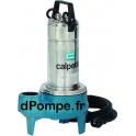 Pompe de Relevage Vortex Calpeda GQS 50-9 SBU de 3 à 27 m3/h entre 8,8 et 2,2 m HMT Tri 400 V 0,75 kW - dPompe.fr