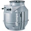 Station de Relevage 1 Pompe Wilo DrainLift WS50E/UNI V05/M08-523/P de 5 à 32,5 m3/h entre 10,5 et 1,7 m HMT Mono 230 V 0,75 kW -