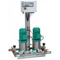 Surpresseur 2 Pompes Wilo WEV-2-304-T/CE-2D de 1 à 5 m3/h entre 41 et 13 m HMT Tri 400 V 0,75 kW