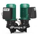 Pompe en Ligne Double Wilo CronoLine DL-E 50/180-7,5/2-R1 IE4 de 3,5 à 38 m3/h entre 42,5 et 41 m HMT Tri 440 V 7,5 kW - dPompe.
