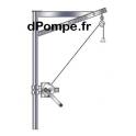 Potence 150 kg Zinguée + Treuil (sans embase) - dPompe.fr