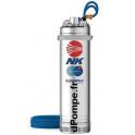 Pompe Immergée Pedrollo pour Puits NK 2/6 de 1,2 à 4,8 m3/h entre 90 et 48 m HMT Tri 400 V 1,5 kW