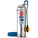 Pompe Immergée Pedrollo pour Puits NKm 8/4 GE avec Flotteur de 2,4 à 9,6 m3/h entre 51 et 21 m HMT Mono 220 230 V 1,5 kW - dPomp