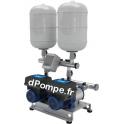 Surpresseur Ebara 2GPE COMPACT B/12 ESPM 304 de 3,6 à 14,4 m3/h entre 47,5 et 27,6 m HMT Tri 230 V 0,9 kW Variateur E-SPD Mono 2