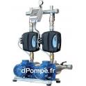 Surpresseur Ebara 2GPE MATRIX 3-7T/1,3 ESPM 304M de 2,4 à 9,6 m3/h entre 73 et 28 m HMT Tri 230 V 1,3 kW Variateur E-SPD Mono 23