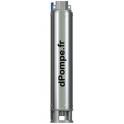 Hydraulique de Pompe Immergée Dab S4 1/26 de 0,6 à 1,5 m3/h entre 196 et 80 m HMT - dPompe.fr
