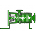 Hydraulique de Pompe de Surface Caprari HFU50/4A de 21,6 à 90 m3/h entre 190,8 et 82,6 m HMT - dPompe.fr