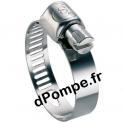 Collier de Serrage Inox W4 à Bande Perforée Ø 14 à 24 mm Largeur 8 mm - dPompe.fr