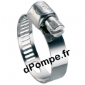 Collier de Serrage Inox W4 à Bande Perforée Ø 18 à 28 mm Largeur 13 mm - dPompe.fr