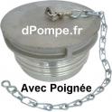Bouchon à Gros Filet Rond GFR Aluminium Mâle DN 80 avec Poignée - dPompe.fr